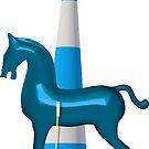 polo horse blue von Rhea Silvia Will