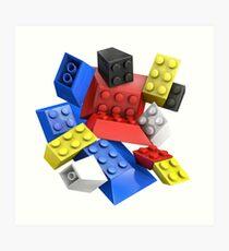 Picasso Toy Bricks Art Print