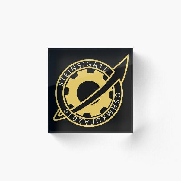 Steins;Gate - Future Gadget Laboratory Badge Acrylic Block