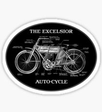 Excelsior Autocycle oval Sticker