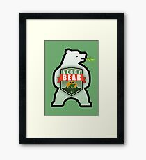 Veggy Bear - Bear MAP Framed Print