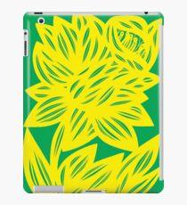 Goldwire Flowers Yellow Green iPad Case/Skin
