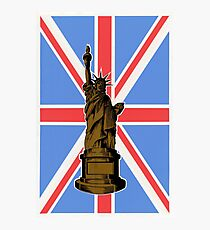 Union Jack and Lady Liberty Photographic Print