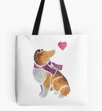 Watercolour Rough Collie Tote Bag