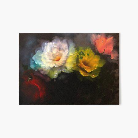 Midnight Roses Art Board Print