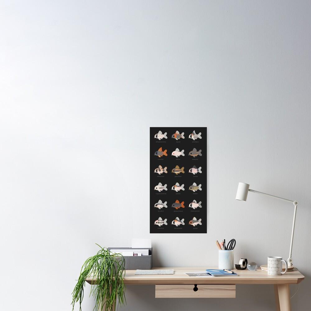 Corydoras! - black Poster