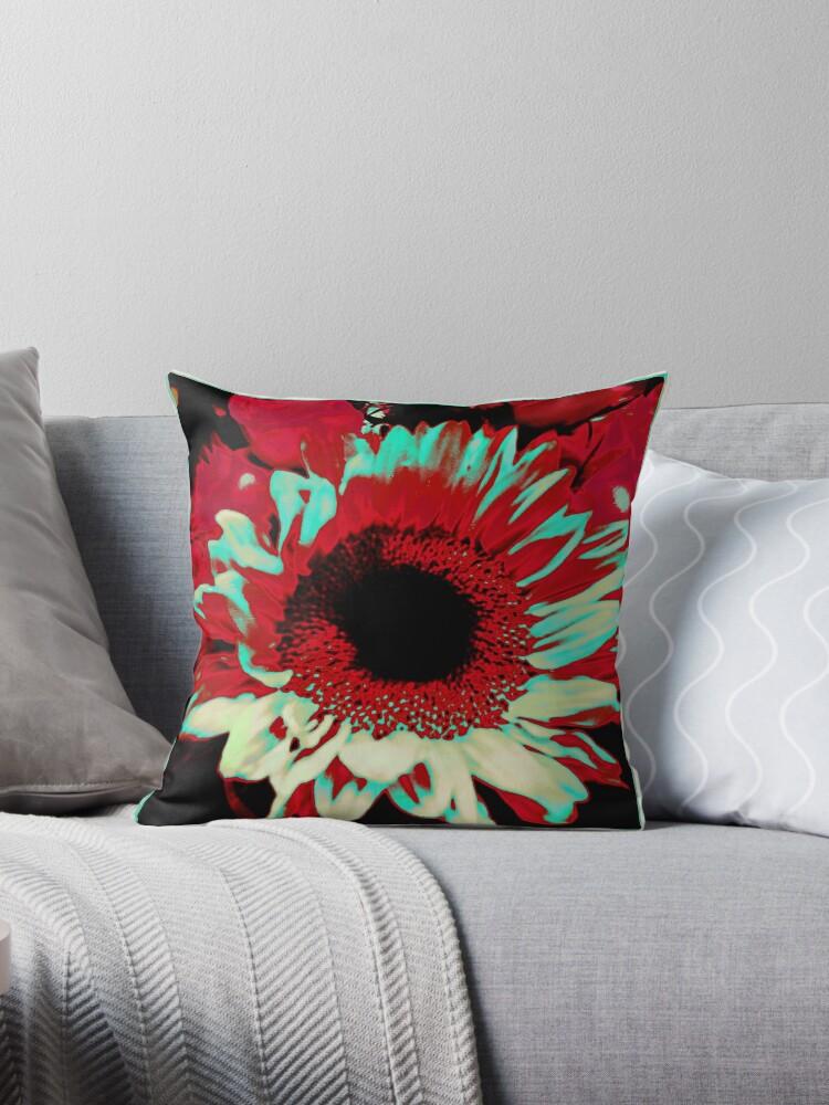 Bright Floral - Fiery Sunflower Design by OneDayArt