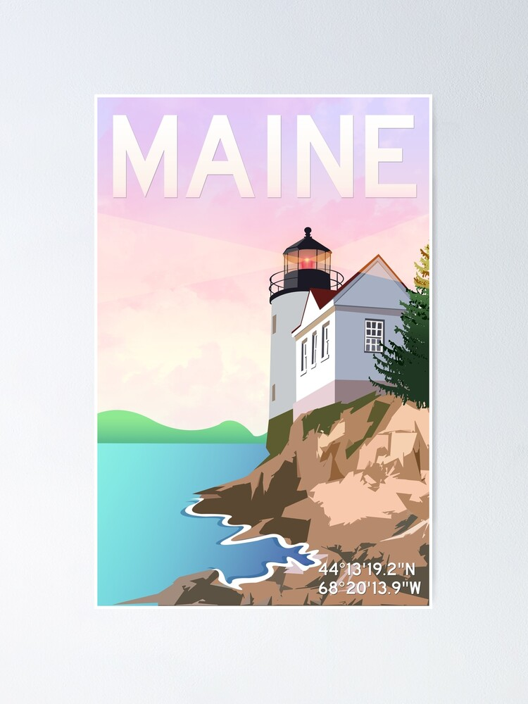 Alternate view of Bass Harbor Lighthouse Poster