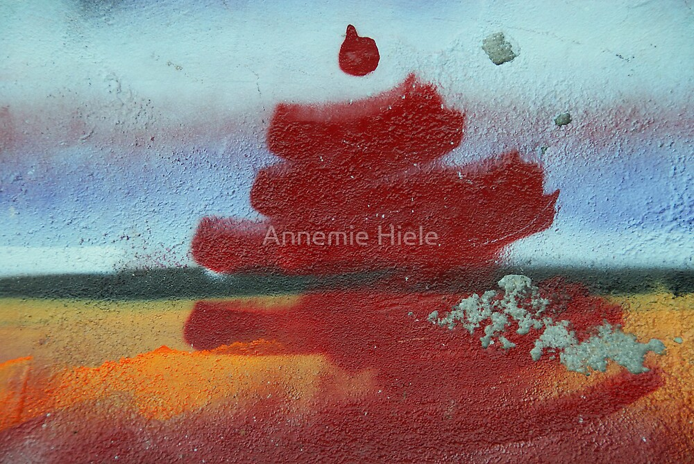red dot on top by Annemie Hiele