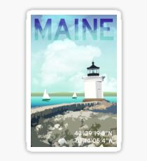 Bug Light Portland Maine Sticker