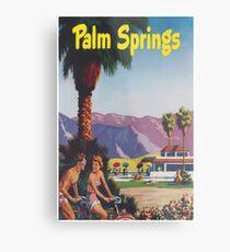 Palm Springs, California Retro Vintage Poster Metal Print