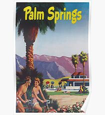 Palm Springs, California Retro Vintage Poster Poster