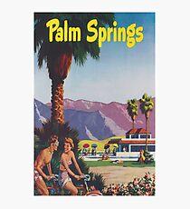 Palm Springs, California Retro Vintage Poster Photographic Print