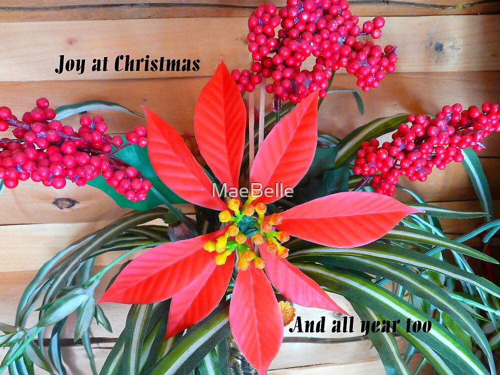 Poinsettia CHRISTmas card by MaeBelle