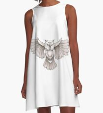 Owl wing span A-Line Dress