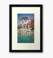 Cabo San Lucas Typography Print Framed Print