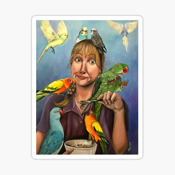 Self-Portrait with Birds Sticker