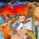 Chained Burka Liberty and the Pitbull by Pamela Spiro Wagner