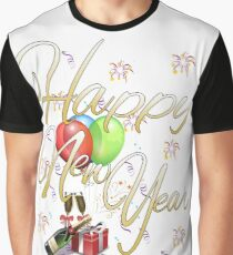 Happy New Year Graphic T-Shirt