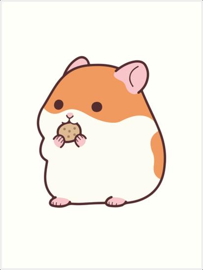 """Cute Hamster Emoji Funny Novelty Tee"" Art Print by ..."