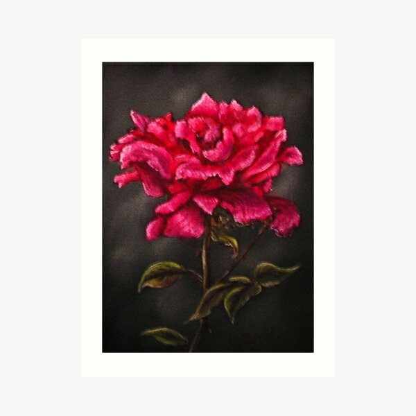 """Pink Rose"" - Oil Painting Art Print"