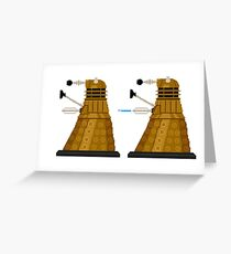 Pixel Dalek Greeting Card