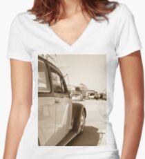 Air Force Classic VW Beetle  Women's Fitted V-Neck T-Shirt