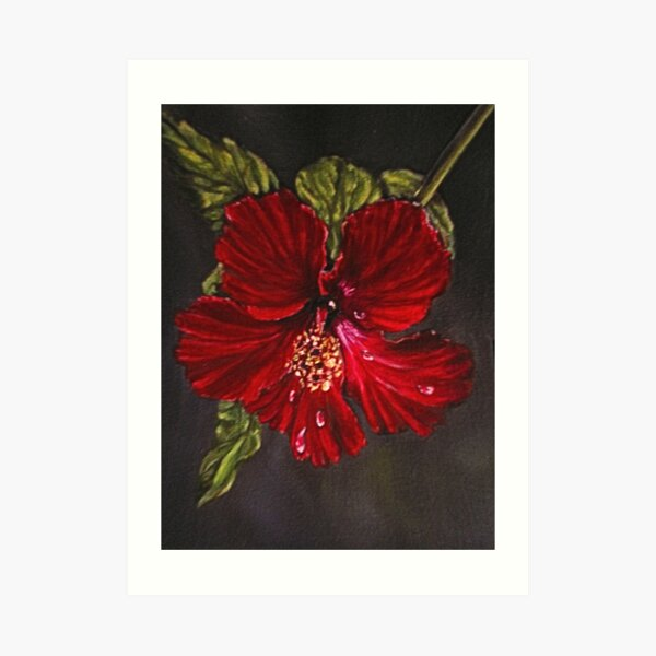 """Poinsettia"" - Oil Painting Art Print"