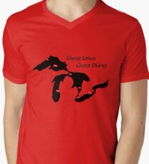 Great Lakes, Great Diving Mens V-Neck T-Shirt