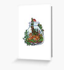 Tiger Plant Terrarium Greeting Card