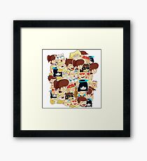 Loud emoji complilation  Framed Print