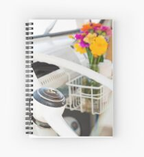 Flowers in a Vintage VW Bus Spiral Notebook