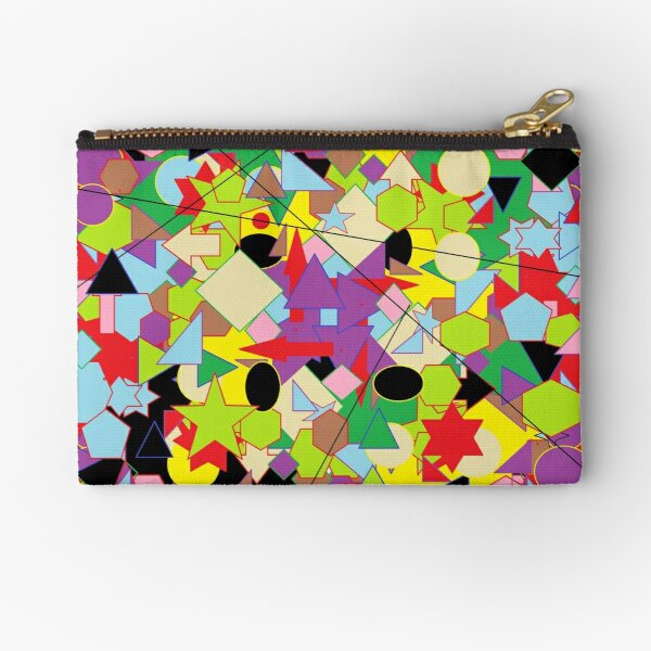Motley Abstract Pattern Zipper Pouch