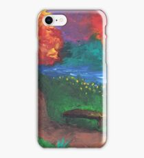 Park Bench in Evening iPhone Case/Skin