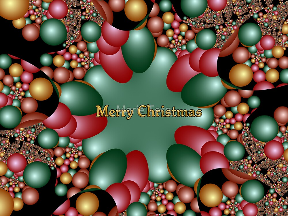 Merry Christmas Fractal by Marie Terry