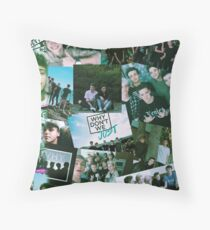 why dont we  colloge Throw Pillow