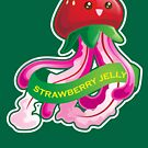 Cute Strawberry Jellyfish Pun by kimchikawaii