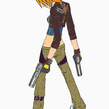 Gun Girl by Mudman