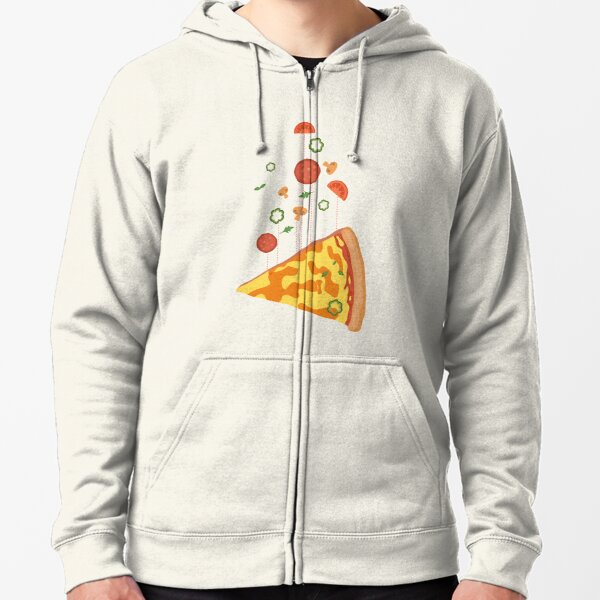 Pizza floating island - Hot pizza is in the air - I love Pizza Zipped Hoodie