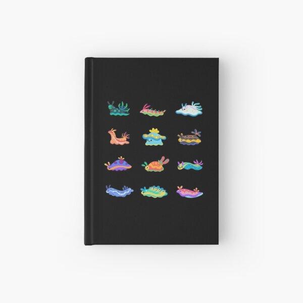 Sea slug - black Hardcover Journal