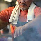 Satay Man at Mindil Markets by Basa