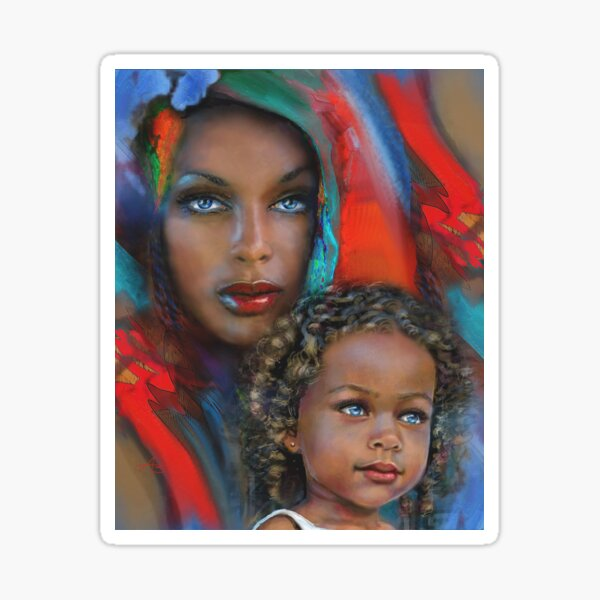 """""""Mother And Child"""" Sticker"""
