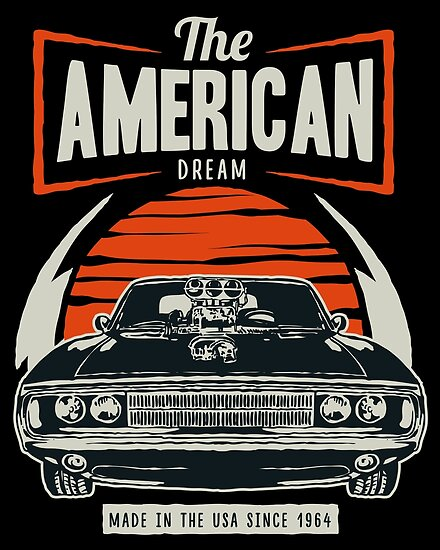 American Muscle Car Posters By Roguedroid Redbubble