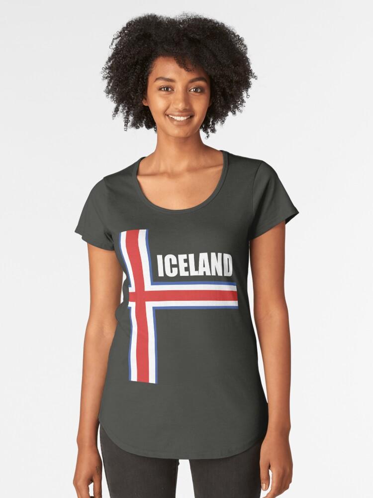 Iceland Soccer Jersey Shirt Icelandic Football Island World Cup Women s  Premium T-Shirt Front fdb9e5dc3