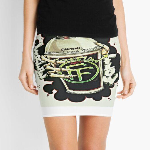 """Spray Can Green"" by Tatt2 Mini Skirt"