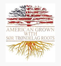 American grown with Sor trondelag Roots T-Shirt  Photographic Print