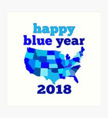 Happy BLUE year! Art Print
