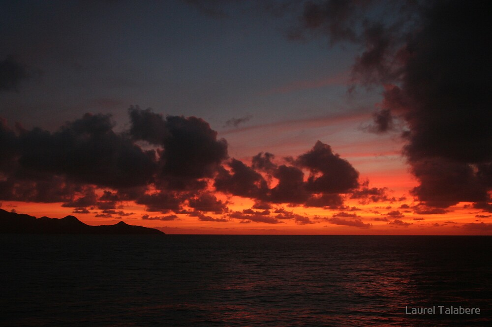 Sunset from Mayreau by Laurel Talabere