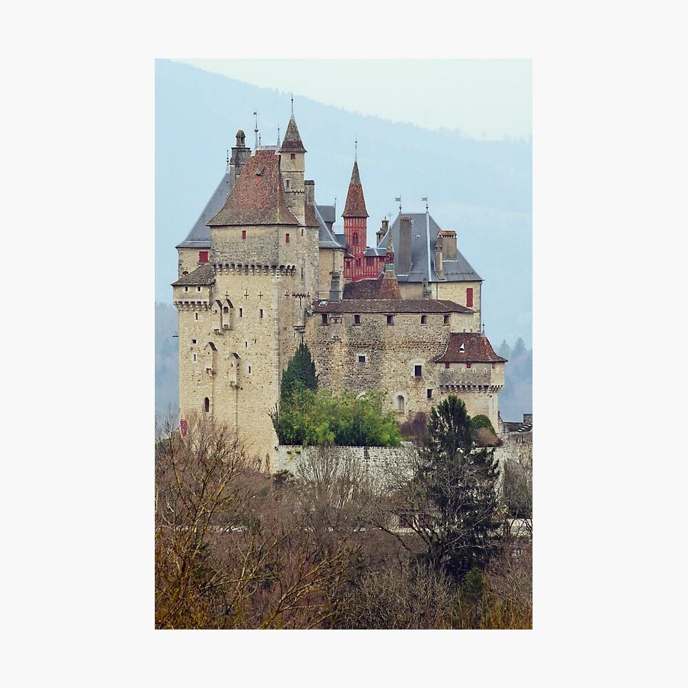 Menthon Saint Bernard castle Photographic Print