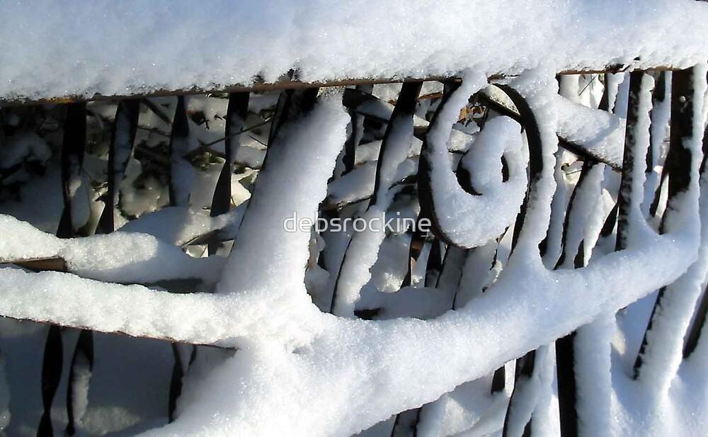 Snowy Iron Gates by debsrockine